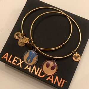 ALEX AND ANI: Star Wars Gold Bangles